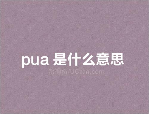 pua是什么意思